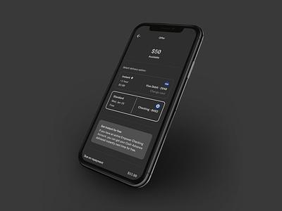 Empower Cash Advance (Dark Mode) dark mode empower debit card cash advance visa debit