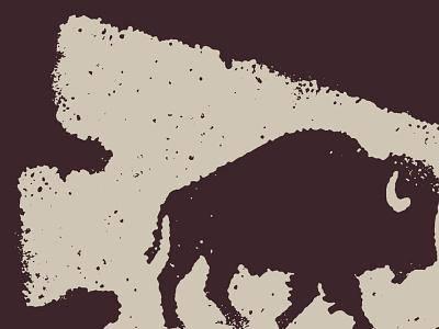 Bison Arrowhead midwest buffalo procreate arrowhead bison great plains little mountain screen printing design drawing sketch little mountain print shoppe hand drawn illustration joe horacek