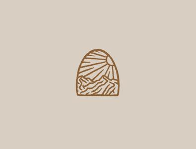 Afternoon in the Hills branding logo sketch drawing design typography little mountain print shoppe hand drawn illustration joe horacek