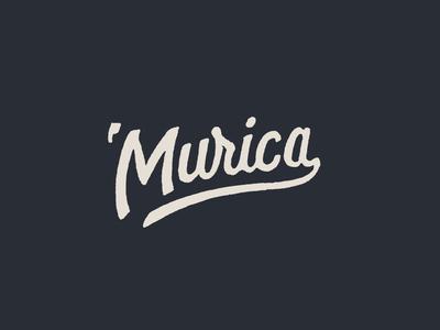'Murica 4th of july lettering design type little mountain print shoppe hand drawn typography joe horacek stars and stripes merica murica america usa