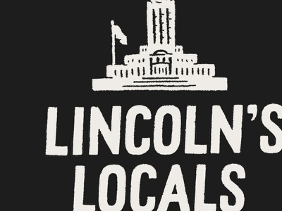 Lincolns Locals branding nebraska logo instagram lettering design drawing type sketch little mountain print shoppe hand drawn typography illustration joe horacek lincoln ne