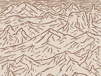 Hills Mountains and Plateaus 1 of 2 great plains procreate hills mountains design drawing sketch little mountain print shoppe hand drawn illustration joe horacek