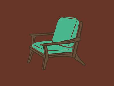 Mid-Century Chair procreate drawing joe horacek design illustration furniture chair mid-century