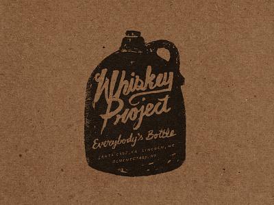 Whiskey Project whiskey lincoln nebraska illustration typography everybodys bottle whiskey project hand drawn