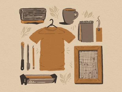 Art Craftsmanship and Screen Printing small business midwest coffee shirt procreate great plains nebraska logo screen printing design drawing little mountain print shoppe hand drawn illustration joe horacek