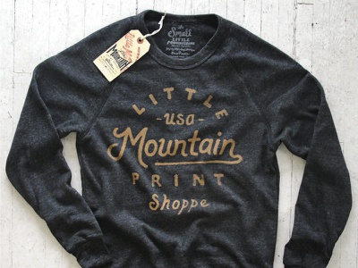 LMPS Sweater sketch typography lettering design little mountain print shoppe hand drawn joe horacek alternative apparel triblend sweater weather
