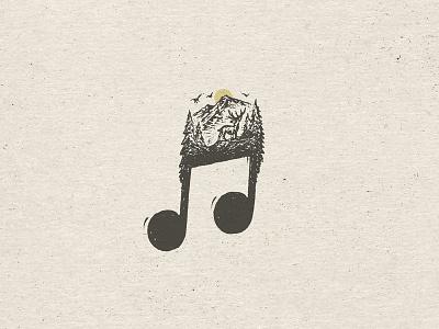 Feel Good Travelin' Tunes joe horacek spotify discover explore travel music sketch hand drawn drawing deer mountain illustration