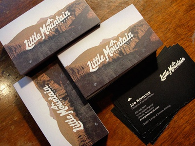 Little mountain business cards