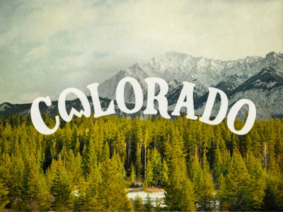 Colorado joe horacek hand drawn typography text design colorado drawing vintage mountains landscape ride colorado