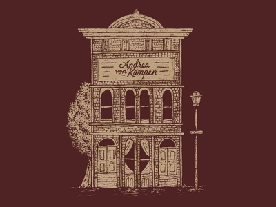 Andrea von Kampen | Building screen printing lincoln nebraska lettering design drawing sketch hand drawn little mountain print shoppe type typography illustration joe horacek