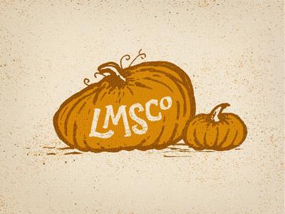 Happy Halloween you Goons! happy halloween logo icon lmsco little mountain supply co pumpkins illustration type typography orange
