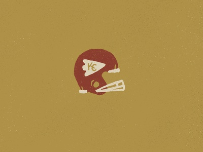 KC Football branding kcmo arrowhead procreate hand drawn type typography illustration joe horacek design helmet nfl football kc kansas city