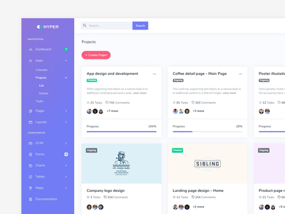 Hyper - Projects Page