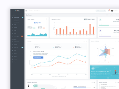 Upvex - Admin & Dashboard web app projects colorful admin dashboard clean flat ux design dashboard admin ui