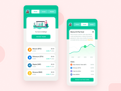 Cryptocurrency Mobile App 1.0 clean minimalism cryptocurrencies bitcoin exchange bitcoin services bitcoin wallet bitcoin cryptocurrency app crypto currency crypto exchange crypto wallet cryptocurrency product design iphone x ios ios app minimal design interface design mobile app adobe xd