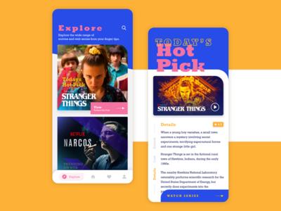 TV Show app concept