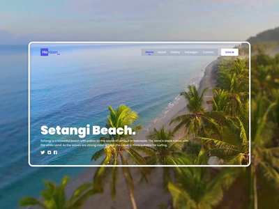Travel Explorers Website Concept landing page design landing page setangi beach website design animation product design beach video webdesign website design app minimal design interface design interaction design interaction animation after effects ios app adobe xd mobile app