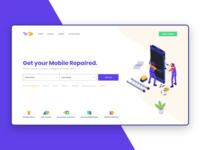 Mobile Repair Landing Page