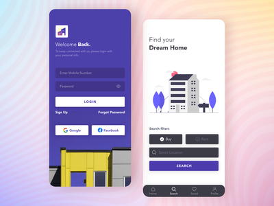 Property Finder search page find home room finder property app home app app design home finder house rent appartment property finder android product design design iphone x ios ios app minimal design interface design mobile app adobe xd