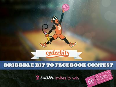 Coderbits Contest coder coderbits beta invitation dribbble contest facebook