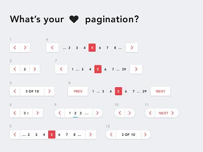 What's your fav pagination? ux ui list pages menu navigation web pagination