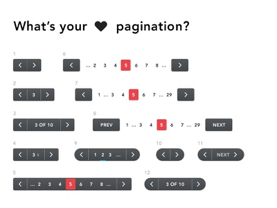 What's your fav pagination? ux ui list pages menu navigation web pagination
