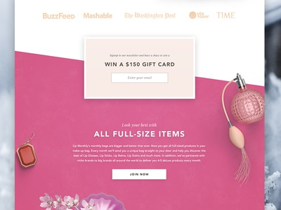 Beauty Product Landing parallax bold beauty page site agency clean whitespace simple landing