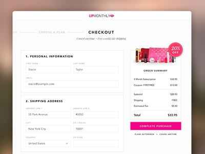 Ecommerce Checkout store web receipt preview form checkout ecommerce