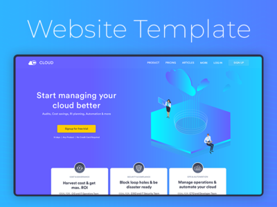 Concept Website Landing Page Template