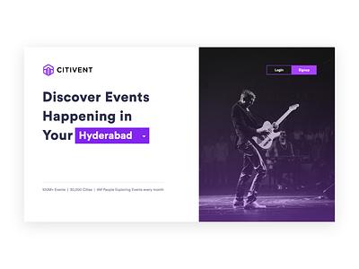 City Event ui city event website login