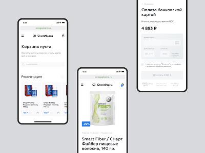 Medicine adaptive web mobile app order pay cart health ecommerce web webdesign adaptive app design app medicine app mobile pharmacy medicine pharma clean ux ui