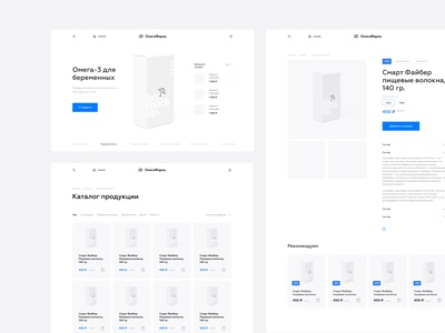 Wireframes for Omegafarm online shopping store online store branding shop ecommerce clean onepage ux ui