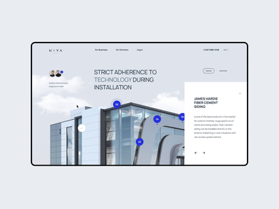 Concept   b2b onepage estate property siding roof b2b clouds sky house landing design clean onepage ux ui