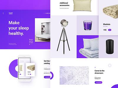 AMETHYST — FREE PSD TEMPLATE free onepage slider scroll violet ui ux portfolio promo