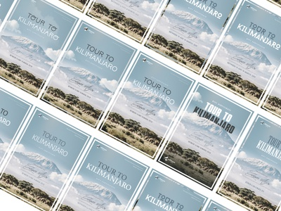process mountain kilimanjaro clouds sky clean onepage ux ui poster design certificate poster