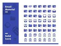 Mail Material - Solid Icons