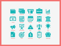 Business & Finance Solid Icons