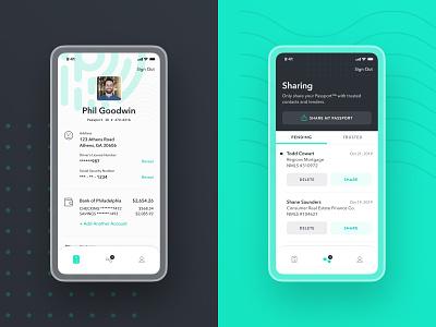 Passport™️ Exploration avatar product product design passport profile account streamline icons share green verification identity icons ui ux ios iphone avenir next