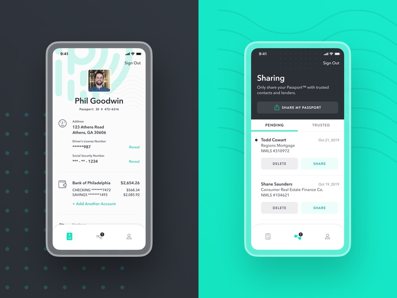 Passport™️ Exploration avatar product product design passport profile account streamline icons share green verification identity icons ui ux ios iphone avenir next