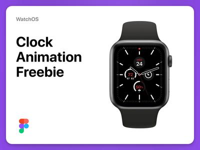 WatchOS Clock Animation (Freebie) uidesign resource sf pro micro interaction watch design product design ui design freebie free clock watchos apple watch animation interaction ux ui
