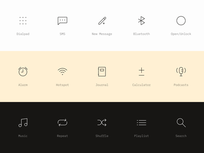 Light Icons icon set ui music podcast light phone phone iconography clean simple icons light