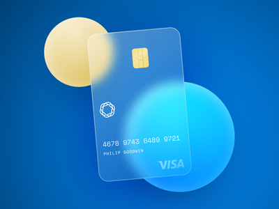 Glass Card Design finance financial background circles monospace simple blue credit card money card tutorial figma background blur blur glass