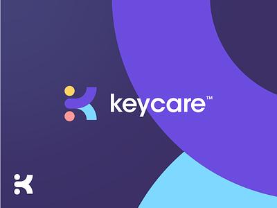 Keycare™️ Logo Concept doctor loop circle basic shapes blur logomark identity branding geometric gradient purple avant garde k logo concept