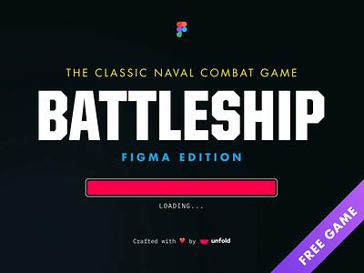Battleship Figma Game games two color figma game ibm plex mono monospace two player loading loader loader bar figma app boat battleship futura united font free freebie figma game