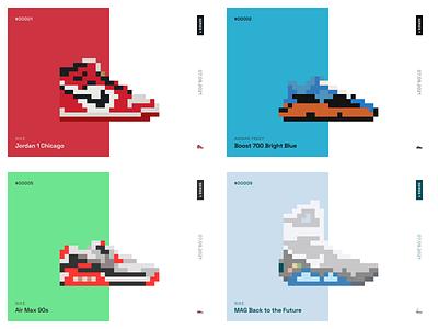 CryptoSneaks™️ Launch! pixels pixel sneakers nike cryptosneaks shoes 8-bit pixelart opensea nft crypto 8bit sneaks
