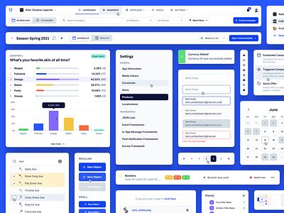 UserWise UI Components uiux icons calendar fields form menu bar graph atomic design styles ui kit kit buttons components modules widgets web app app design app design system ui
