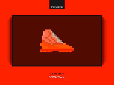 CryptoSneak 1020V Boot pixel nft pixelart pixel bright space grotesk ethereum orange giveaway wallpaper shoes crypto nft pixel art yeezy shoe sneaker
