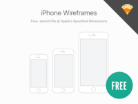 Free: iPhone Wireframes
