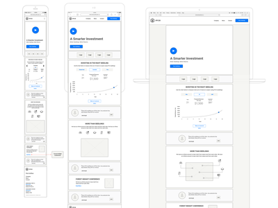 New IFCO Landing Page Wireframes ux trees tree seedlings aiux play landing desktop mobile wires wireframes ifco