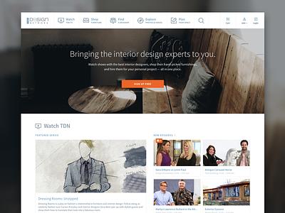 TDN Homepage source sans pro icons navigation carousel video furniture landing page homepage